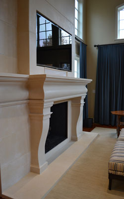 Augusta Mantel & Custom Overmantel