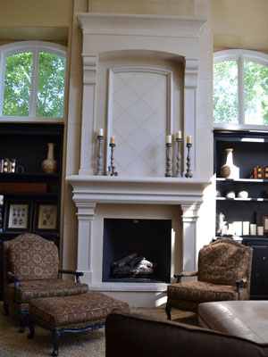 Custom Monterrey Mantel & Overmantel