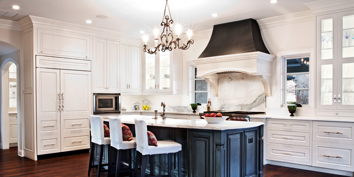Stone Kitchen Hood Cast Transitional