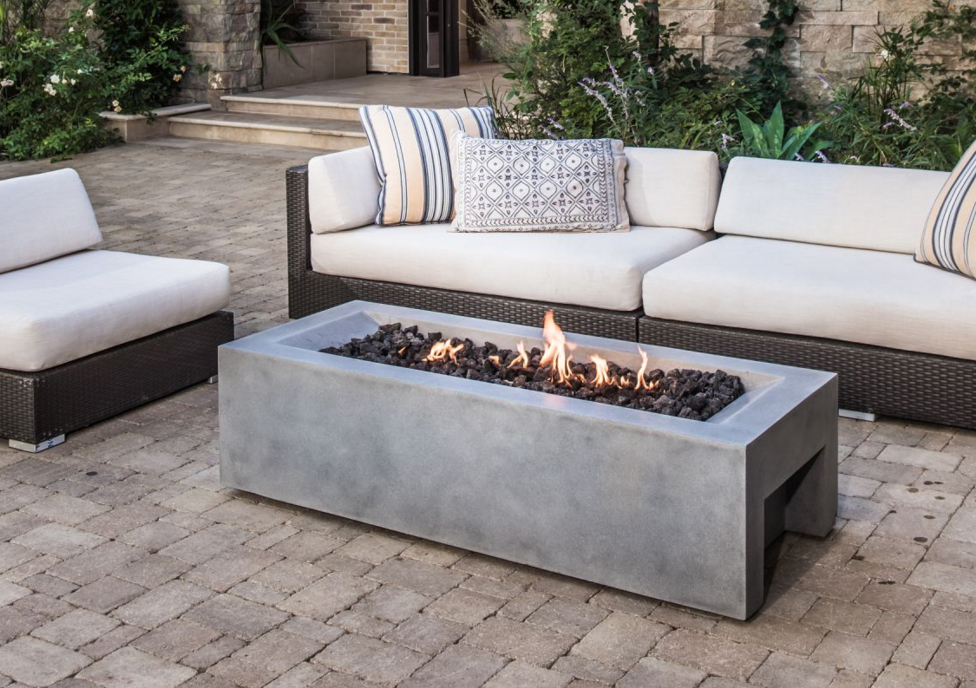 Distinctive mantel designs lyra for Eldorado stone fire pit